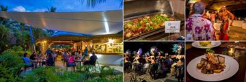 Crown Beach Resort & Spa, Oceans Restaurant & Bar With Some Dining Options and Entertainment