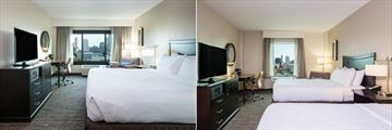King Guest Room and Double Guest Room at Crowne Plaza Memphis Downtown