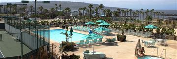 Resort and Pool View at Crowne Plaza Redondo Beach & Marina