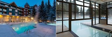 Outdoor Pool and Indoor/Outdoor Pool at Delta Hotels by Marriott Whistler Village Suites