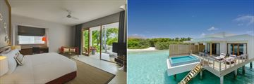 Deluxe Beach Bungalow and Lagoon Villa with Pool at Dhigali