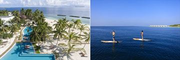 Pool, beach and paddle boarding at Dhigali