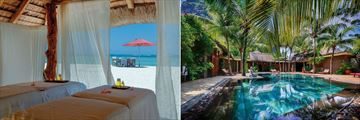 Dinarobin Beachcomber Golf Resort & Spa, Spa Beach Treatment Cabana and Spa Pool