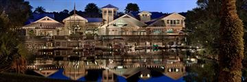 Disney's Old Key West Resort, Exterior at Night