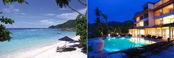 DoubleTree by Hilton Seychelles Allamanda Resort & Spa, Beach, Resort and Pool at Night