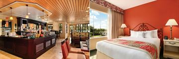 Cafe Portofino and One King Bed Two Room Suite at DoubleTree Suites by Hilton Naples