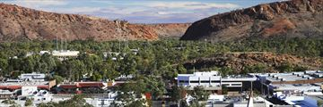 Aerial view of downtown Alice Springs