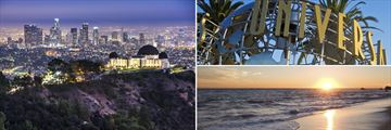 Downtown LA, Universal & Malibu Beach, California