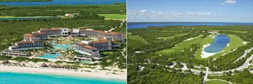 Dreams Playa Mujeres Golf & Spa Resort, Aerial View of Resort and Golf Course