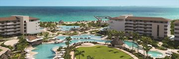Dreams Playa Mujeres Golf & Spa Resort, Aerial View of Resort and Pools