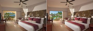 Preferred Club Partial Ocean View and Deluxe Pool View rooms at Dreams Royal Beach Punta Cana