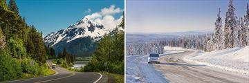 Driving in the beautiful Yukon & Alaskan Scenery