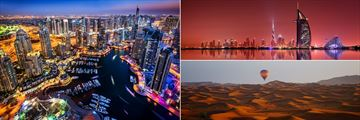 Dubai Marina, Skyline and Desert