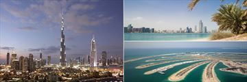Burj Khalifa, Palm Jumeirah and City Skyline, Dubai