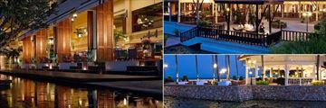 Dusit Thani Hua Hin, (clockwise from left): San Marco Restaurant, Benjarong Restaurant and Rim Talay Bar & Grill