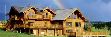 Rainbow Over Dove Lodge at Echo Valley Ranch & Spa