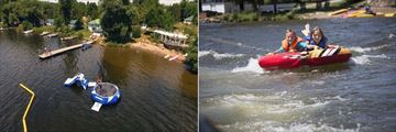 Elmhirst's Resort, Aerial View of Watersports at Resort and Free Tubing