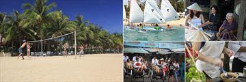 Evason Ana Mandara Nha Trang, Beach Volleyball, Sailing Course, Hat Making, Cooking Class and Market Tour