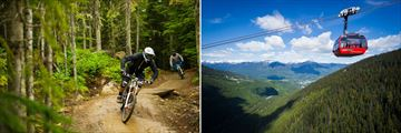 Mountain biking and gondola rides in Whistler