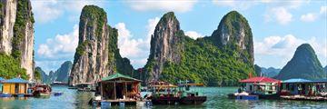 Floating Village Rock Island Halong Bay