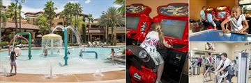 Floridays Resort Orlando, Pool Splash Zone, Games Room Super Bikes, Games Room and Fitness Centre