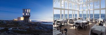 Fogo Island Inn, Exterior and Restaurant Dining Room