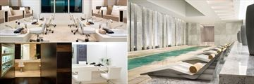 Spa Treatment Room, Spa Pool with Loungers and Salon at Fontainebleau Miami Beach