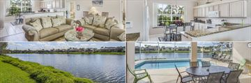 Fort Myers Area Pool Homes, Living Room, Kitchen, Pool and Exterior