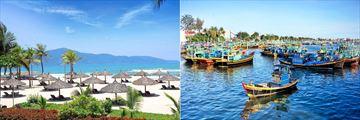 Furama Beach and Phan Thiet Fishing Boats