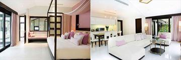 Fusion Maia Resort, Spa Villa Two Bedroom Master and Living Area