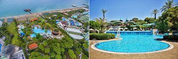 Aerial view and main pool at Gloria Verde Resort