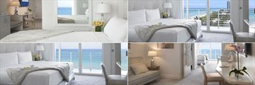 Grand Beach Hotel Miami, (clockwise from top left): Bay Front Suite, Partial Sea View Suite, Two Bedroom Corner Suite and Ocean View Suite