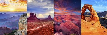 The landscapes of Grand Canyon, Monument Valley, Moab & Arches National Park