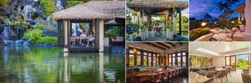 Grand Hyatt Kauai Resort and Spa (clockwise from left): Tidepools Dining, Tidepools Bungalow, Donderos Restaurant, Lliama Terrace Dining and Stevensons Sushi Bar