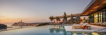 Infinity pool at Grand Park Hotel Rovinj