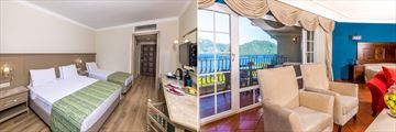 Standard Room and King Suite in main building at  Grand Yazici Club Marmaris Palace