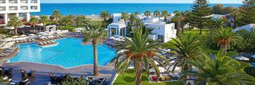 Aerial of pool at Grecotel Creta Palace
