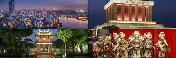 Hanoi Cityscape, Ho Chi Minh Mausoleum, the Temple of Literature & Water Puppets