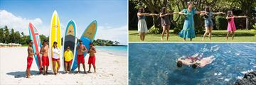 Surfing, hula dancing and snorkelling
