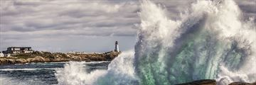 Heavy surf along Peggy's Cove, Nova Scotia