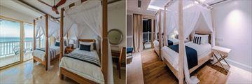 Deluxe Ocean View Twin Bedroom and Apartment Twin Bedroom at Hemingways Watamu Hotel