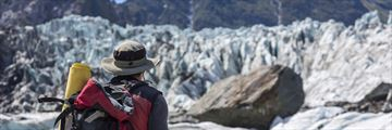 Hiking through Fox Glacier