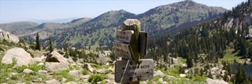 Hiking trails in the Wasatch Mountains