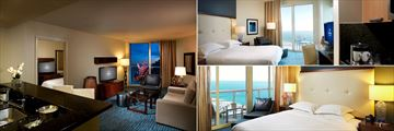 Hilton Fort Lauderdale Beach Resort, One Bed Living Room, Studio King and One Bed Bedroom