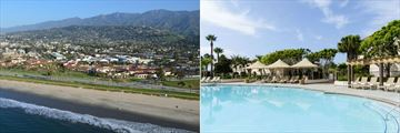 Hilton Santa Barbara Beachfront Resort, Aerial View Resort and Terraza Del Mar Snack Bar and Pool