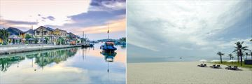 Hoi An waterfront & Nam Hai beach
