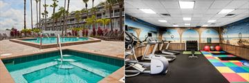 Garden Pool and Jacuzzi and the Fitness Centre at Holiday Inn & Suites Harbourside