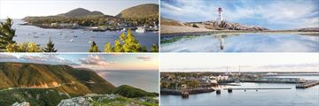 Views from the cruise ship: Bar Harbour, Maine, Charlottetown, Peggy Cove, Cape Breton