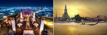 Sirocco at Tower Club Lebua and Chao Phraya River