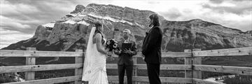 Wedding ceremony at Banff's Hoodoo Lookout